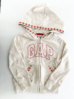 Gap ivory logo zip up hood (size 3)