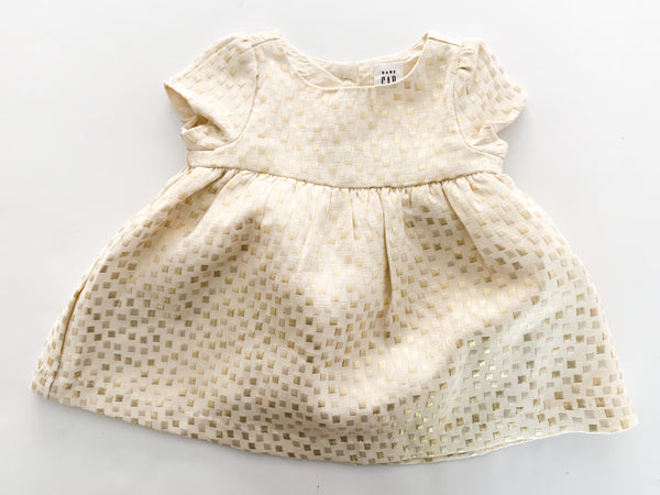 Gap metallic square dress (0-3 months)