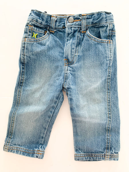 Hurley straight leg denim jeans size 12 months