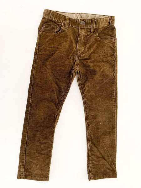 H&M  brown thin cord pants size: 5-6Y