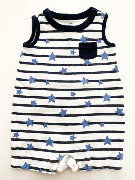 Gap striped romper with stars  (3-6 months)