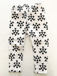 Crown and coroknits bw triangle white leggings ( 9 months)