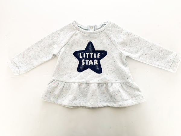 Joe fresh little star peplum shirt (6-12 months)