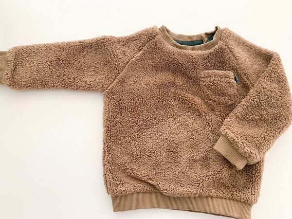 Zara teddy sweater with front pocket