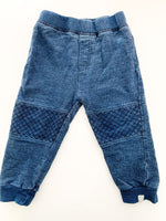 Burts bee navy joggers with knee patch (18 months)