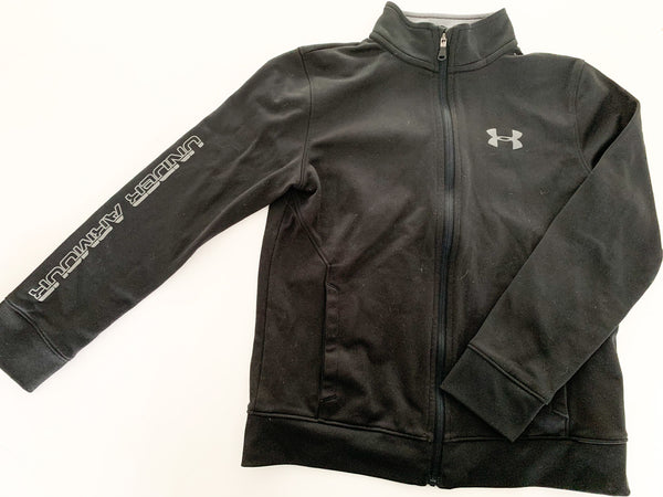 Under Armour black zip up jacket size YSM/JP/CH