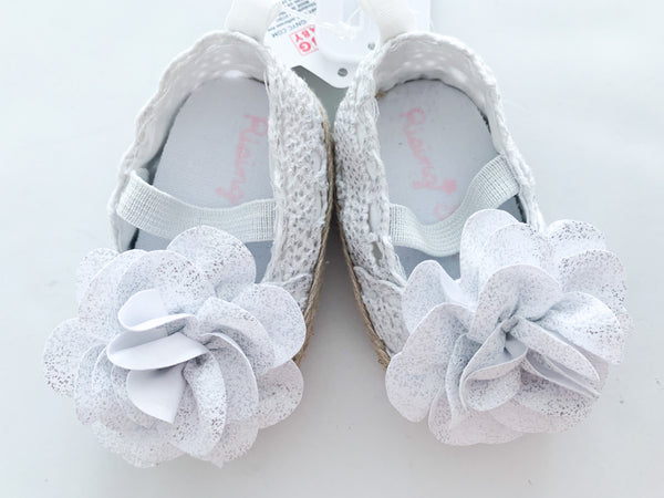 Rising star lace floral espadrilles (0-3 months)