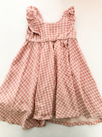 Remie girl pink plaid dress w/ruffles  (size 4)