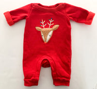 Gap red reindeer one piece (up to 7lbs)