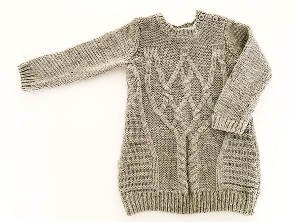 Joe fresh grey cable knit dress (12-18 months)
