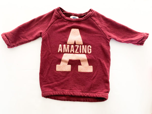 Old navy amazing burgundy pullover   (size 4)