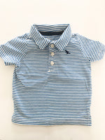 Carters blue and white stripe polo shirt (9 months)