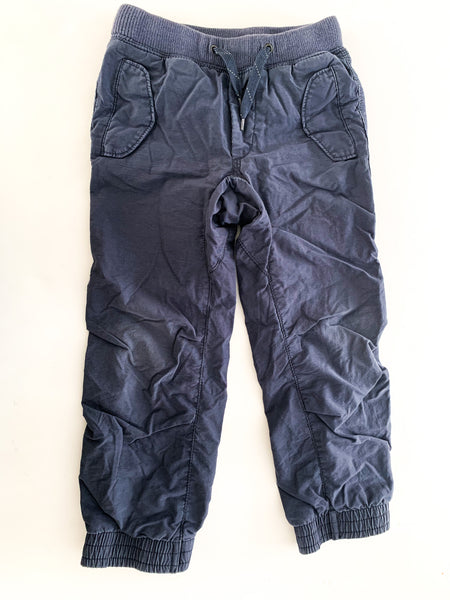 Gap navy jogger grey lined pants ( size 5)