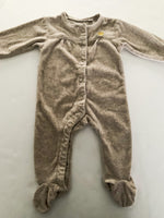 Mexx natural fleece button and snap sleeper  (6-9 months)