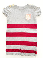 Juicy couture grey stripe shirt (size 4)