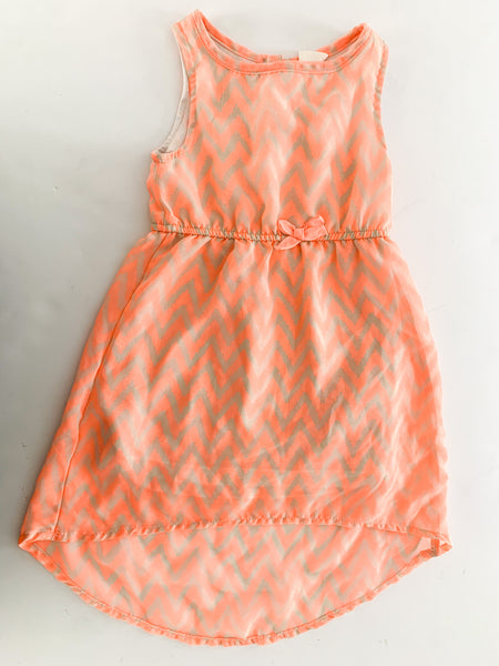 HM peach chevron print dress (size 2-3)