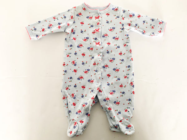 Carters blue floral print sleeper (3 months)