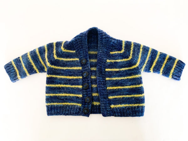 Stripe knit cardigan (9 months)