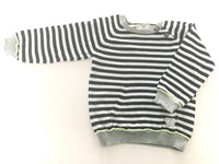 Zara blue and white striped sweater