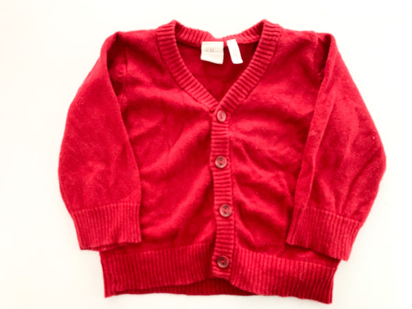 HM red cardigan (4-6 months)