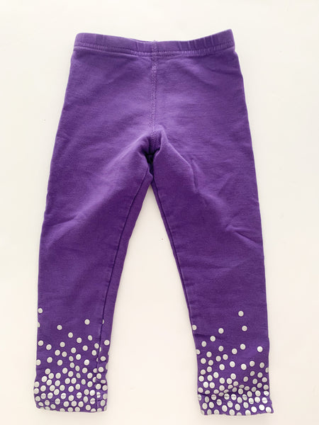 Peekaboo beans purple yoga pants (size 3)