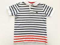 Lacoste Kids golf shirt with blue & red stripes size 6 years