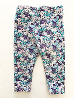 Joe fresh blue floral leggings (6-12 months)