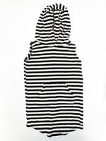 Mi & FI BW stripe tank dress w/hood ( size 2)