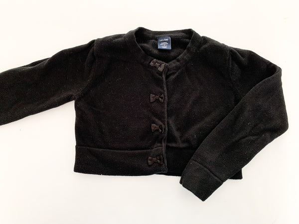 Baby Gap black cropped cardigan with bow details size 2T