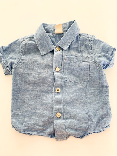Tucker + Tate light blue button shirt  (9 months)