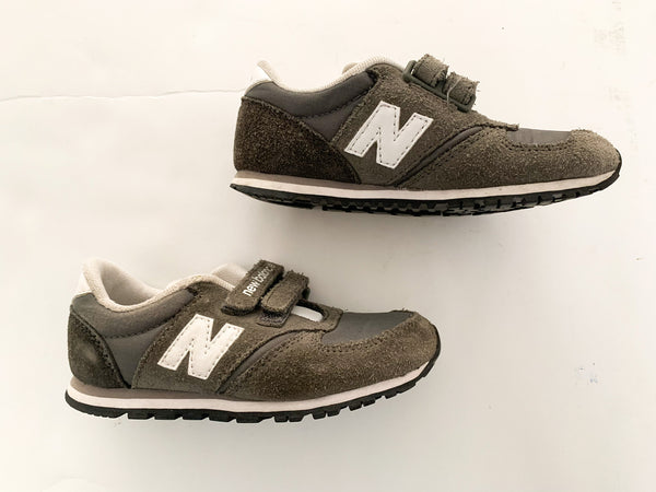 New Balance grey with velcro strap sneakers size 10