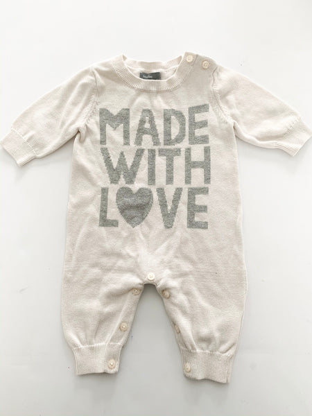 Made with love cream one piece( 0/3 months)