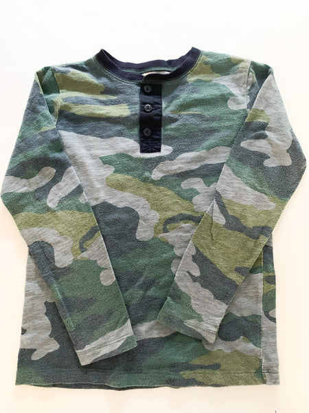 Crewcuts camo long sleeve shirt size 6-7Y