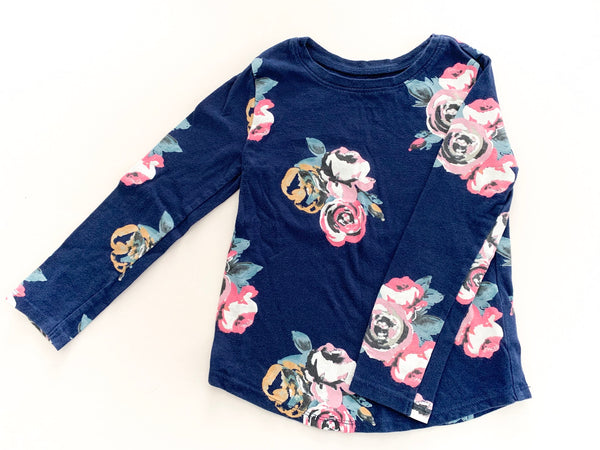 Old Navy floral print LS navy