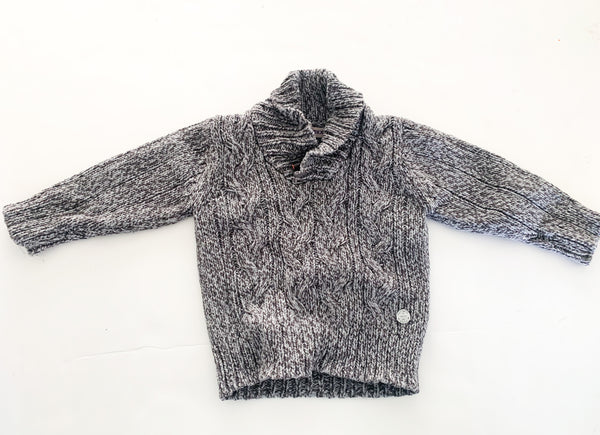Mexx grey cable knit pullover (9/12 months)