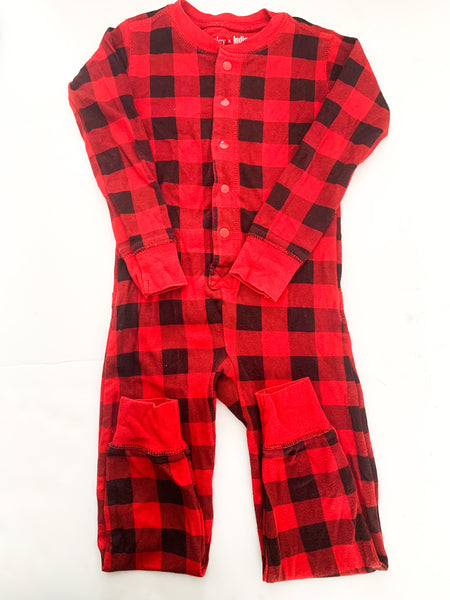 Hatley x indigo Buffalo plaid one piece (size 2)