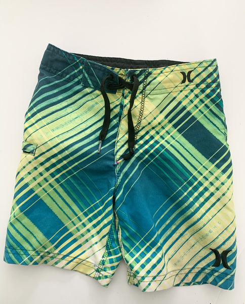 Hurley green swim trunks (size 4)