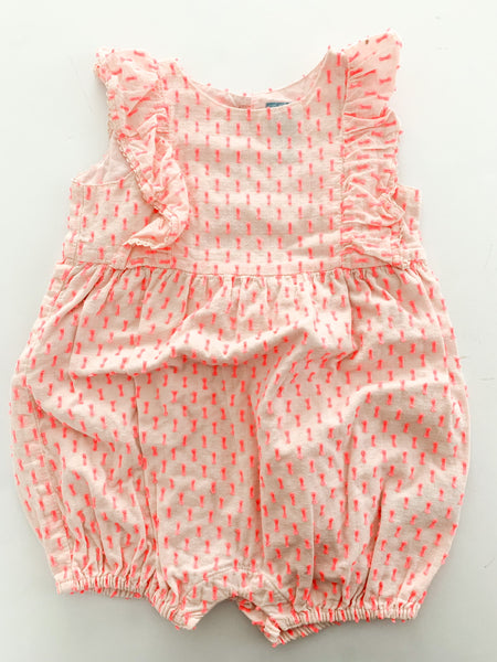 Baby Gap pink shorts romper size 6-12 months