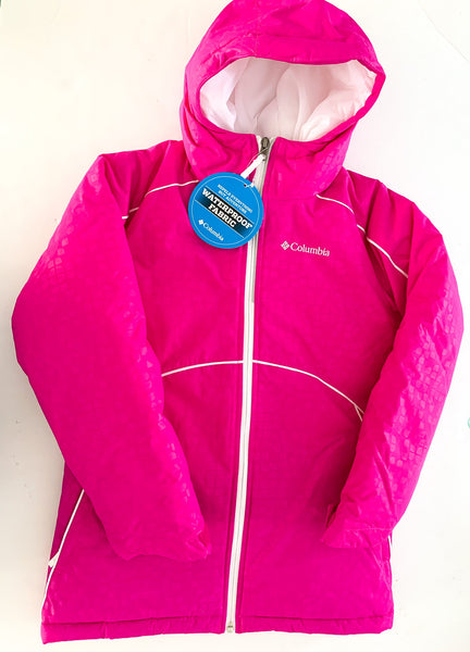 Columbia fuchsia pink waterproof winter parks with hood new with tags size small (~age 8)