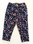 Primark navy with floral stretchy jeggings size 9-12 months