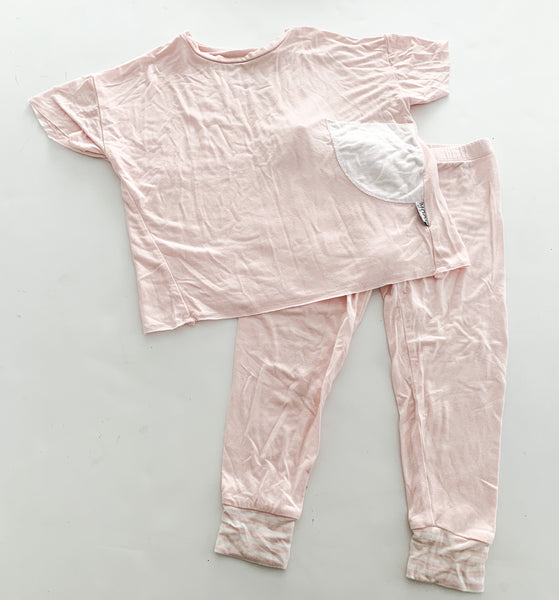Moon & Beck light pink tee and leggings (1-2)