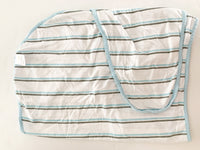 Miracle Blanket white with blue stripe 100% swaddle
