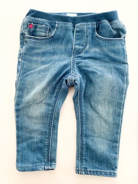 Baby Gap faded denim jeans with elastic waist size 12-18 months