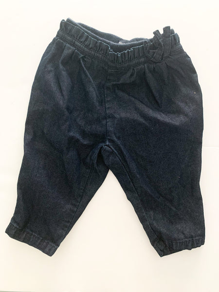 Baby Gap dark denim harem denim pants size 3-6 months