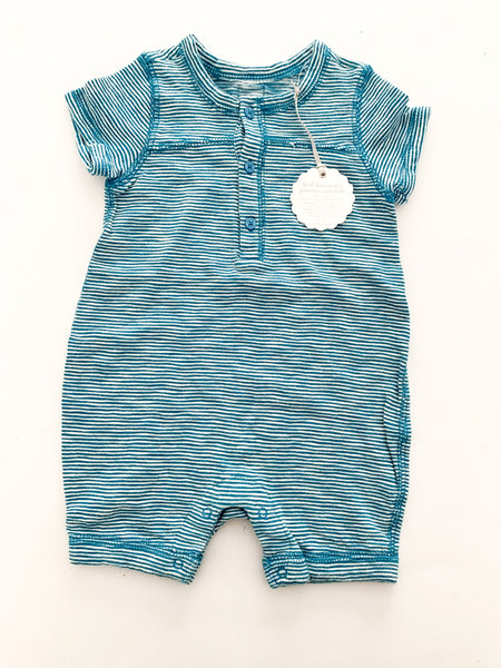 Baby Gap teal 1pc shorts with stripes size: 3-6 months