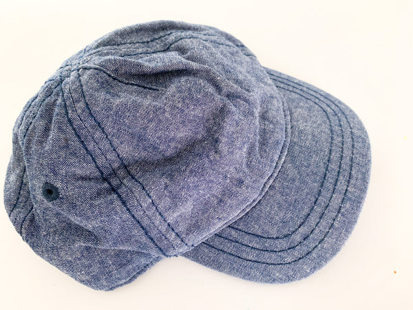 Old Navy denim hat (0-6 months )