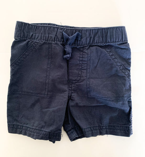 First impressions navy shorts (12 months)