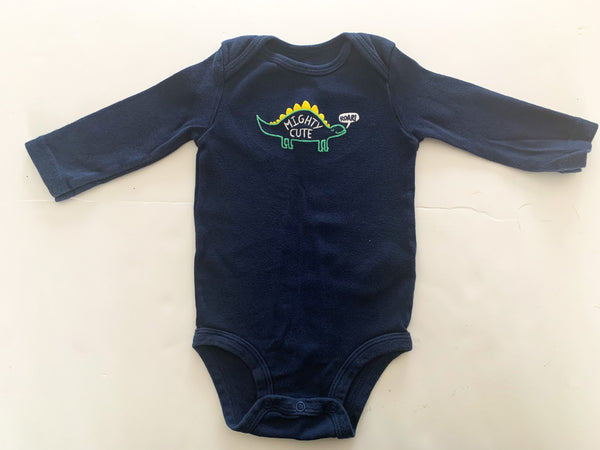 Carters mighty cute navy dinosaur onesie  (6 months)