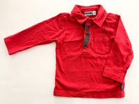 Mexx red polo LS shirt(12-18 months)