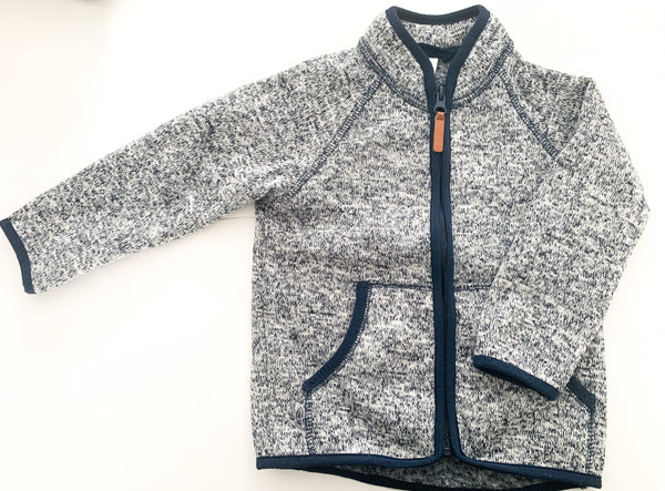 HM heather blue fleece jacket (size 1.5-2)